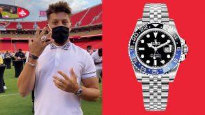 Patrick Mahomes Wears a Championship-Caliber Watch