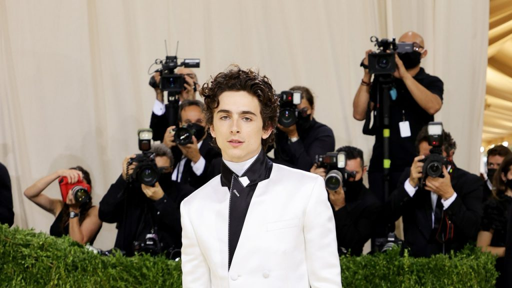 Timothée Chalamet, Sweatpants and All, Walked to the Met Gala